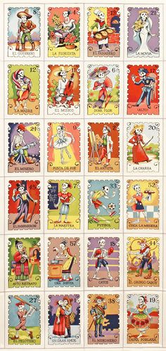 Alexander Henry Folklorico Cartas Marcadas by luckykaerufabric