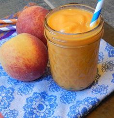 Peach smoothies, peach smoothie with sweet potato