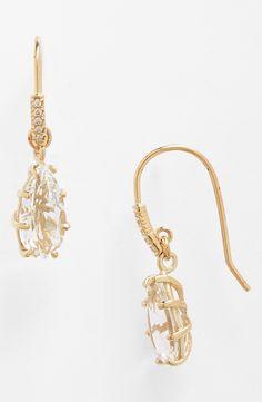 KALAN by Suzanne Kalan White Topaz & Diamond Drop Earrings