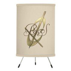 Cute Gold Cello Music Add Initials Lamp  $65.25  by dreamywave  - cyo diy customize personalize unique