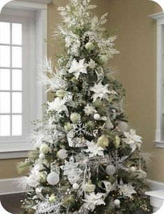 ideas para decorar el rbol de navidad christmas decorating ideaschristmas ideaschristmas tree - 75 White Christmas Tree