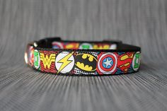 SUPERHERO DOG COLLAR - Adjustable - Sizes Small to Large by TopPetz on Etsy