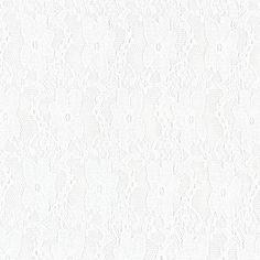 Pizzo stretch 7 - Poliestere - Spandex - bianco