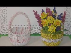 МАСТЕР КЛАСС КОРЗИНОЧКА из бисера от Koshka2015 - цветы из бисера, бисероплетение Beaded basket - YouTube Youtube, Youtubers, Youtube Movies