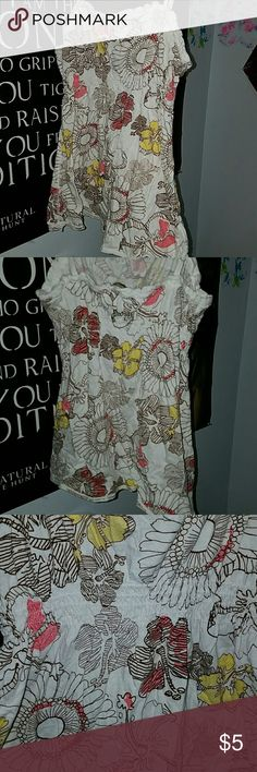 Spaghetti strap flower tanktop Soft material, perfect for going over a swimsuit Arizona Jean Company Tops Tank Tops