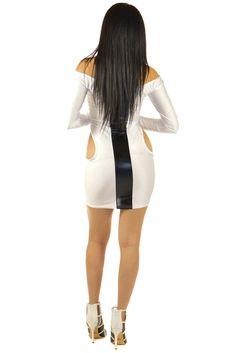 Flirty Black Stripe White Dress | Sexyback Boutique