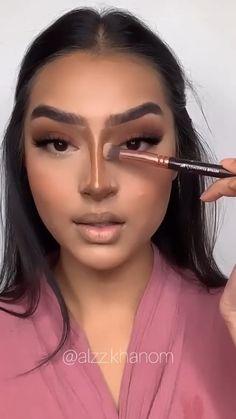 Nose Makeup, Contour Makeup, Flawless Makeup, Eyebrow Makeup, Gorgeous Makeup, Skin Makeup, Cut Crease Makeup, Makeup Tutorial Eyeliner, Makeup Looks Tutorial