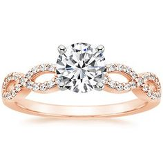 14K Rose Gold Infinity Diamond Ring... Sigh. If only it was white gold or platinum