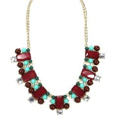 WOMEN'S FASHION CUTE GORGEOUS MULTIPLE SHAPES DESIGN CRYSTAL RHINESTONE GEM BEADED STATEMENT NECKLACE by shopluvmeTake fo