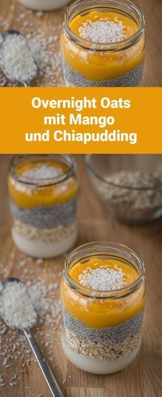 Overnight Oats: a quick and healthy breakfast - Overnight Oats: ein schnelles und gesundes Frühstück Overnight Oats: a simple, fast and healthy breakfast (vegan) - Gourmet Recipes, Mexican Food Recipes, Desayuno Paleo, Breakfast Desayunos, Breakfast Healthy, Breakfast Casserole, Vegan Overnight Oats, Healthy Snacks, Healthy Recipes