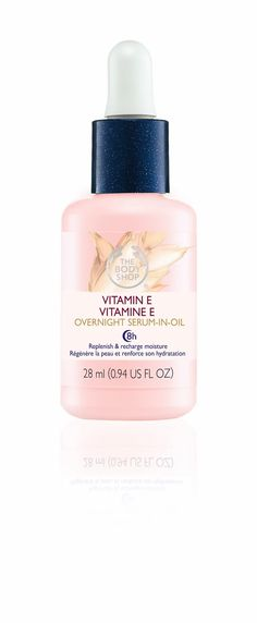 'Vitamine E Overnight Serum-In-Oil' by The Body Shop. http://t-h-i-n-g-s.blogspot.com