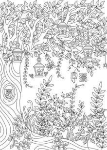 Forest Coloring Book | AdultcoloringbookZ Enchanted Forest Book, Enchanted Forest Coloring Book, Magical Forest, Adult Coloring, Coloring Books, Forest Coloring Pages, Illustration Story, Illustrations, Woodland Creatures