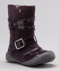 Take a look at this kensiegirl Purple Patent & Suede Boot on zulily today!