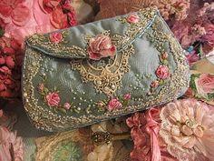 Blue beaded purse