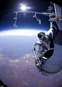 """""""Austrian daredevil taking skydiving to new heights as he prepares to jump from 23 MILES in the air.  Wow!"""