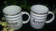 Astor Coffee Cup Gold Trim Mug Promotional Advertising