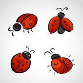 Illustration about Hand drawn icons set - ladybird (ladybug). Illustration of ladybird, birthday, cartoon - 37875802 Ladybird Drawing, Ladybird Tattoo, Lady Bug Drawing, Lady Bug Tattoo, Ladybird Images, Silvester Diy, Ladybug Cartoon, Sketch Icon, Dibujos Tattoo