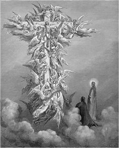 Doré, Gustave - Souls of warriors of the Faith form a cross -paradiso-