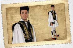 TSOLIAS ON BLACK EMBROIDERED VEST | ΤΣΟΛΙΑΣ ΜΕ ΜΑΥΡΟ ΚΕΝΤΗΜΕΝΟ ΓΙΛΕΚΟ  - #Greece #Folk #Greek_costumes #tsolias #foresia #greek_dance