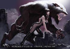 Werewolf by FransMensinkArtist.deviantart.com on @deviantART