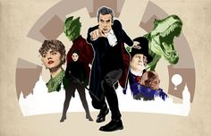 "Doctor Who - Twelfth Doctor Peter Capaldi - Deep Breath - 17 x 11"" Digital Print"