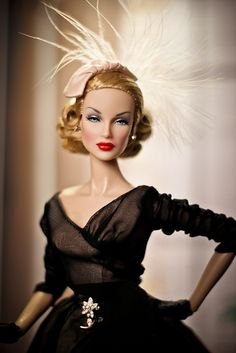 "Lana Turner Dior 8 by Jurrie de Vries, via Flickr  She's dressed in ""Midnight Mischief"" Barbie Silkstone outfit...Perfect!!!  I'd like her sooo much that I'd like to get my own Lana Turner!"