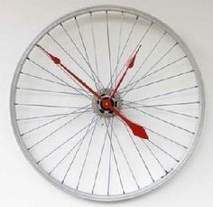 for the person who has everything else! clock from a bike wheel!