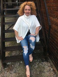 ShArK BiTe jeans are in #cellojeans #thesugarribbondenim #modelamanda #elansweater #visitthesugarribbononfacebook