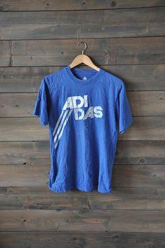 """Royal Blue""""Adidas"""" vintage tee"""