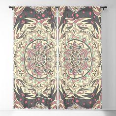 Vintage mandala pattern Blackout Curtain Blackout Windows, Blackout Curtains, Mandala Pattern, Curtain Rods, Throw Pillows, Vintage, Toss Pillows, Cushions, Blockout Blinds