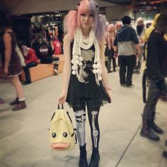 pastel goth and adorable duck backpack