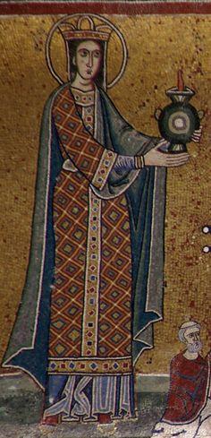 Rom, Santa Maria in Trastevere, Fassade, Mosaik aus dem 13. Jh. (Facade, 13th century mosaic)1