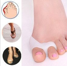 1 Pair Silicone Gel foot fingers Toe Separator...Free Shipping