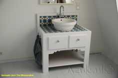 Cement Tiles Furniture - Azule 06 - Project van Designtegels.nl