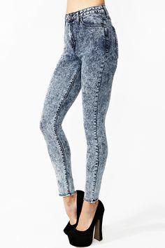 Dark Acid Skinny Jeans