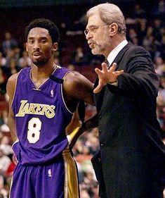 Kobe listening to Phil Jackson