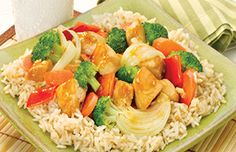 Brown Rice with Sizzling Chicken and Vegetables - What's Cooking? USDA Mixing Bowl #MyPlate