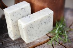 Gardener's Soap - natural soap made with beeswax and honey, rosemary and eucalyptus scented. $4.50