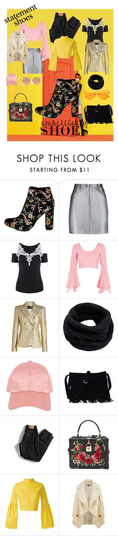 """""""Tapestry"""" by crimsonboudoir ❤ liked on Polyvore featuring MoMo, Liliana, Pierre Balmain, River Island, Balmain, Helmut Lang, Armitage Avenue, Levi's, Dolce&Gabbana and Daizy Shely"""