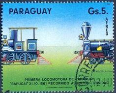 "Stamp: Locomotive ""Sapucai"" (Paraguay) (Trains) Mi:PY 3870"