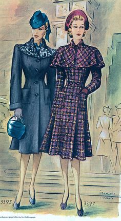 Two gorgeous cold weather coats from 1939.