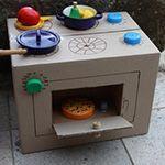 fabriquer une cuisinière en carton: tuto