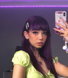 Purple Rain : ARCTIC FOX HAIR COLOR Oops, almost exposed my bank info. Even if someone was to somehow hack into it there'd be nothing to take lmao? Baddie Hairstyles, Hairstyles With Bangs, Pretty Hairstyles, Scene Hairstyles, Dark Purple Hair, Blue Hair, Purple Rain, Lilac Hair, Pastel Hair
