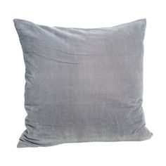 Light Grey Velvet Cushion 50 x 50cm: Velvet cushion in a stylish neutral grey - perfect for teaming with other cushions in rich colours and a mix of textures. Luxury feather pad included. Visit our blog or Pinterest page for inspiration.