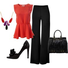 A fashion look from March 2012 featuring Donna Karan pants, Valentino pumps and Miu Miu tote bags. Browse and shop related looks.