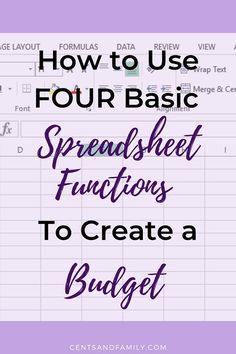The use of a spreadsheet is a very effective tool for organizing your finances. Use basic formulas and functions in a spreadsheet to create your own budget. Excel Budget, Monthly Budget Planner, Money Budget, Money Tips, Monthly Expenses, Household Budget Spreadsheet, Budget Spreadsheet Template, Making A Budget, Create A Budget