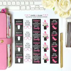 Paper & Glam - You Better Work Planner Stickers