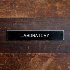 vintage laboratory door sign - reserved for sweetanthem