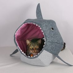 Cat Ball for Shark Week Feed Your Kitty to the by TheCatBall, $99.00  https://www.etsy.com/listing/157514233/cat-ball-for-shark-week-feed-your-kitty?ref=af_new_item