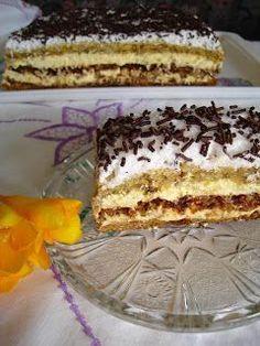 Prajitura Petre Roman - hahahaha, remeber eating this as a kid at weddings in Transylvania Romanian Food, Romanian Recipes, Asian Recipes, Ethnic Recipes, Cream Cake, Food Cakes, Tiramisu, Ale, Cake Recipes